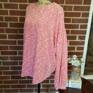 Janette Plus Knit Balloon Sleeve Sweater Shirt 3X